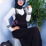 Omuzları Yazılı Siyah Salopet Giyim
