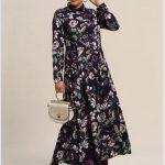 Tesettür Çiçekli Elbise Modelleri