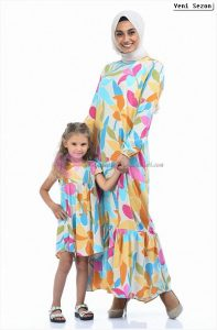 Anneli Kızlı Tesettür Elbise Sefamerve