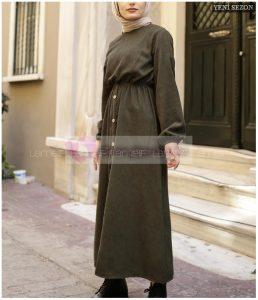 Lamelif Kadife Elbise 2020