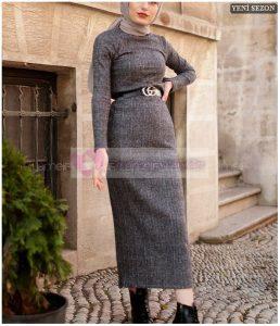 Lamelif Triko Elbise 2020