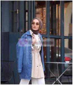 Tesettür Kot Ceket Sokak Modası