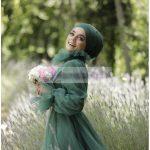 Yeşil Tesettür Abiye