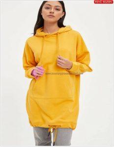 Defacto Eteği Büzgülü Sweatshirt