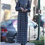 Tesettür Uzun Ekose Elbise
