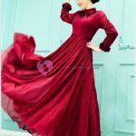 Kırmızı Tesettür Mezuniyet Elbise