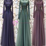 Tül Detaylı Uzun Mezuniyet Elbise Modelleri