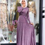 Kadife Elbise Mezuniyet Tesettür