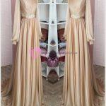 Tesettür Mezuniyet Elbise Gold