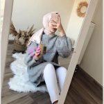 En Güzel Tesettür Kazak Modelleri