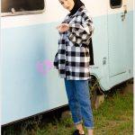 Siyah Beyaz Kareli Oduncu Gömlek Bayan