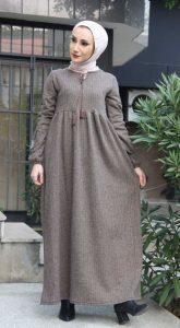 Tesettür Vizon Elbise Modeli