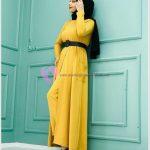 Sarı Rengi Seven Tesettürlü Bayanlar