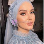 Renkli Gözlü Tesettür Makyaj Modelleri