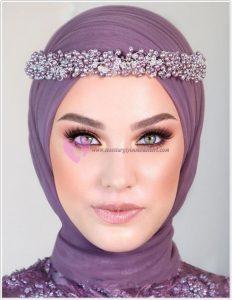 Renkli Gözlü Tesettürlülere Kına Makyajı