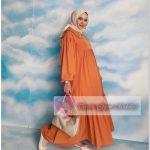 Fırfırlı Tesettür Elbise 2021