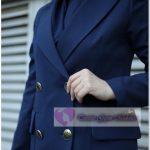 Koyu Renk Tesettür Blazer Ceket