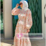 Modaselvim Yazlık Çiçekli Tesettür Elbise