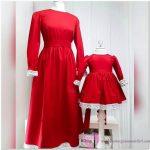 Dantel İşlemeli Anne Kız Giyim