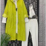 Neon Sarısı Tesettür Kap Modeli